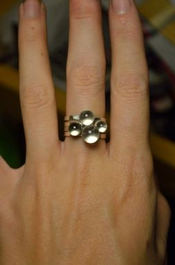 Custom Made Quartz Sphere Stacking Rings