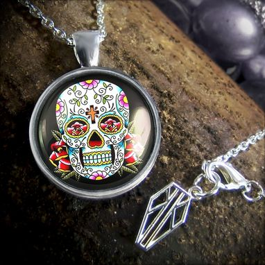 Custom Made Platinum Edition Traditional Day Of The Dead Necklace 55-Prpn