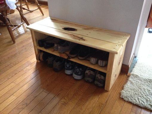Custom Made Rustic Styled Shoe Rack Bench