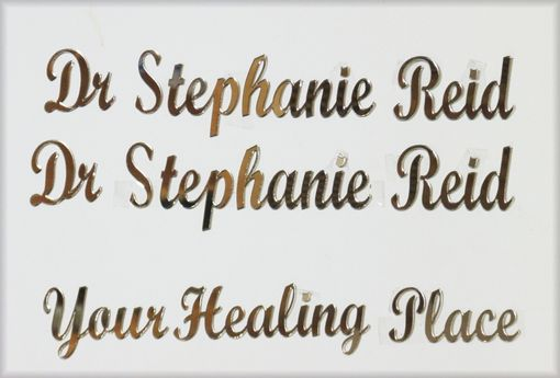 Custom Made Custom Bronze Acrylic Mirror Letters In Script - Laser Cut