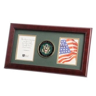 Custom Made U.S. Army Medallion Double Picture Frame