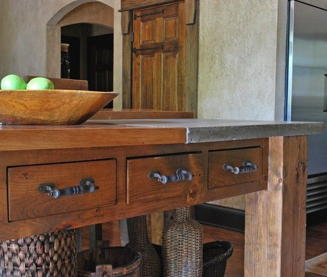 Hand Crafted Tuscan Kitchen Island by Michael Demay Company ...