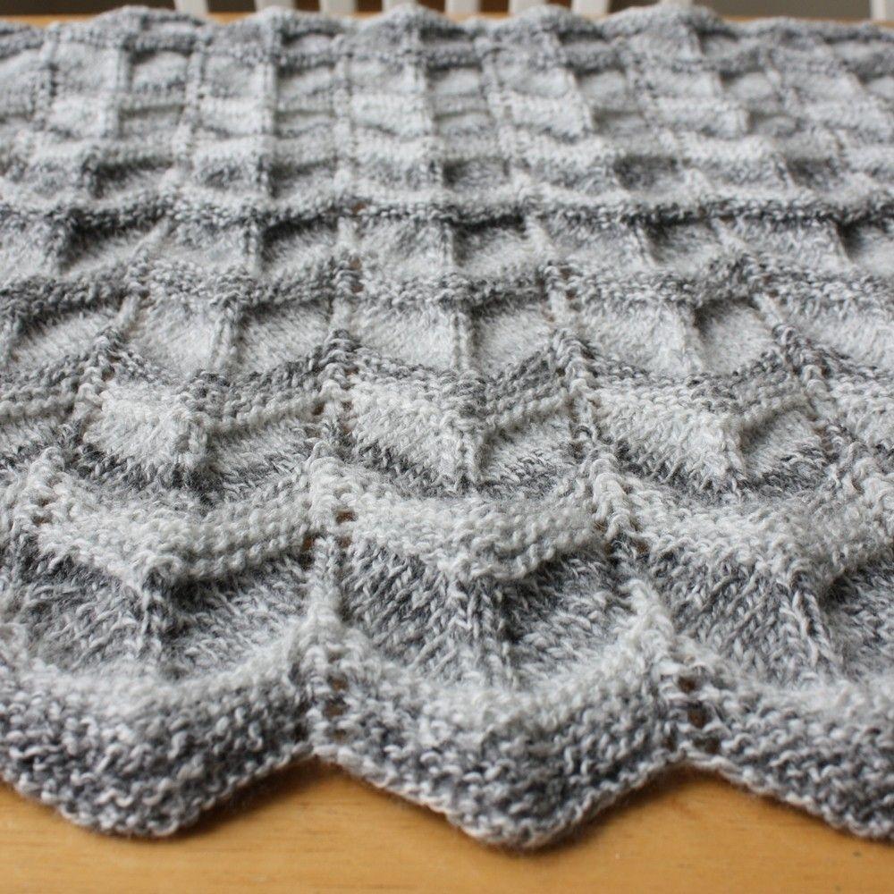 Custom Knit Baby Blanket Pattern - Easy Ripple Chevron by Spinning ...