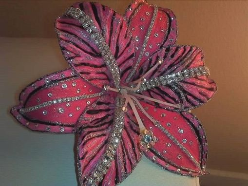 Custom Made Hot Pink & Black Zebra Striped Lily Created For Toni
