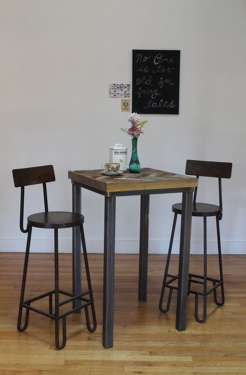 Custom Made Rustic Reclaimed & Sustainably Harvested Wood Pub And Kitchen  End Table - Buy A Hand Crafted Rustic Reclaimed & Sustainably Harvested Wood