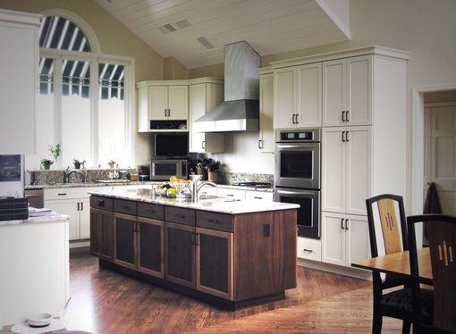 Custom Made Custom Kitchen Cabinets And Island In Mahogany