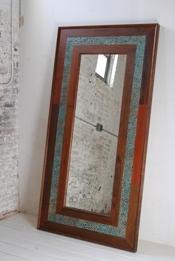 Custom Made Wood / Leather Mirrors