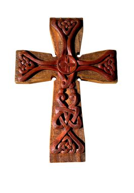 Custom Made Hand Carved Celtic Style Cross