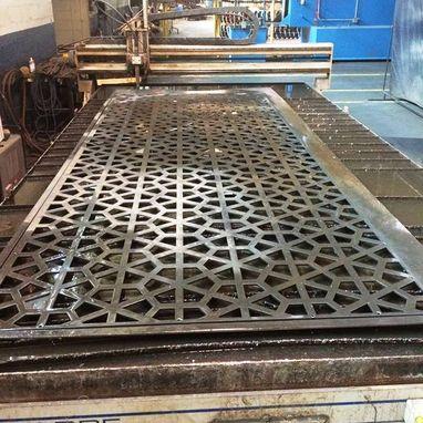 Hand Crafted Aluminum Pergola Screening 20' X 20' Custom