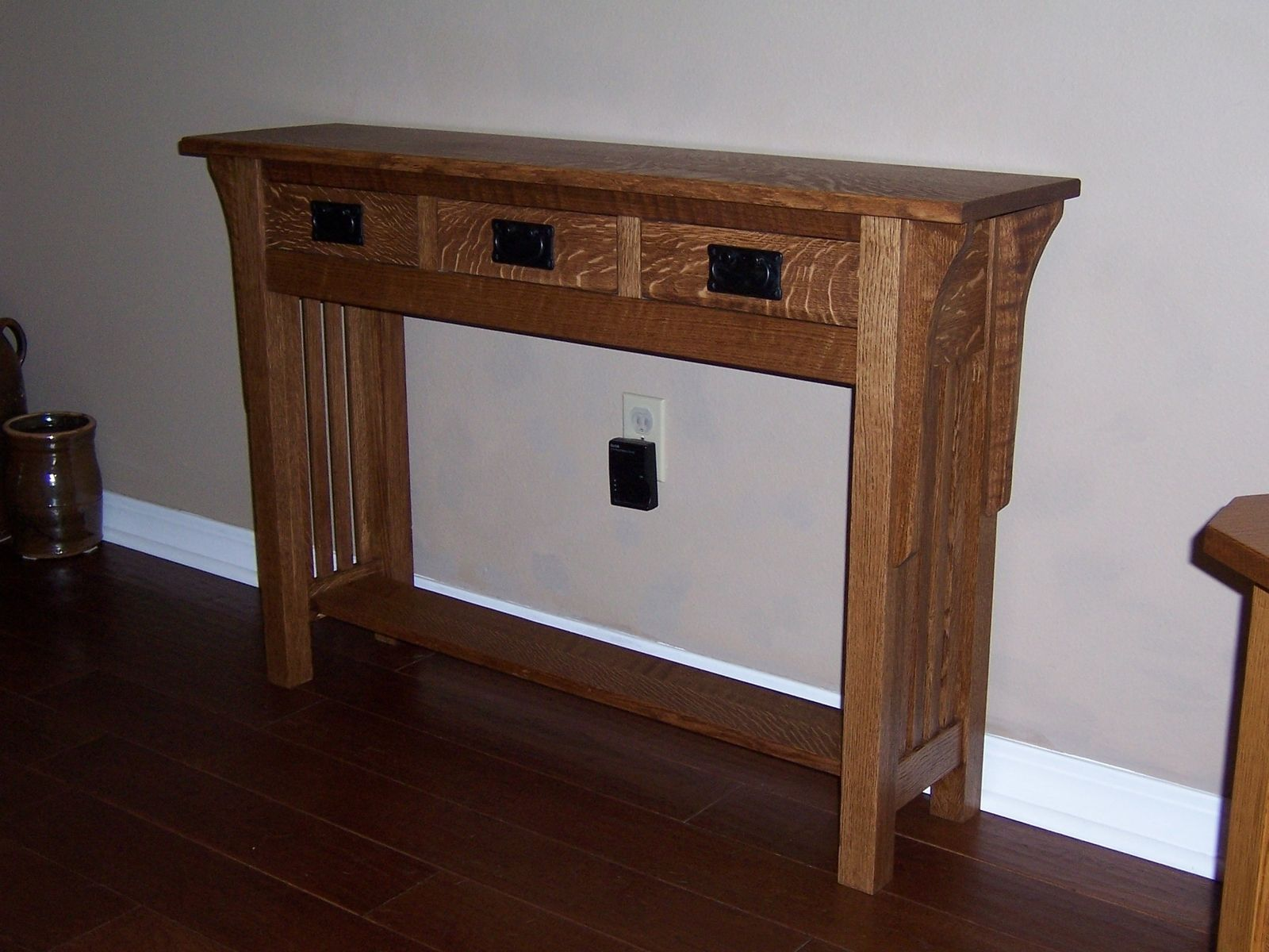 Hand Crafted Sofa Table by Bungalow White Oak Furniture ...