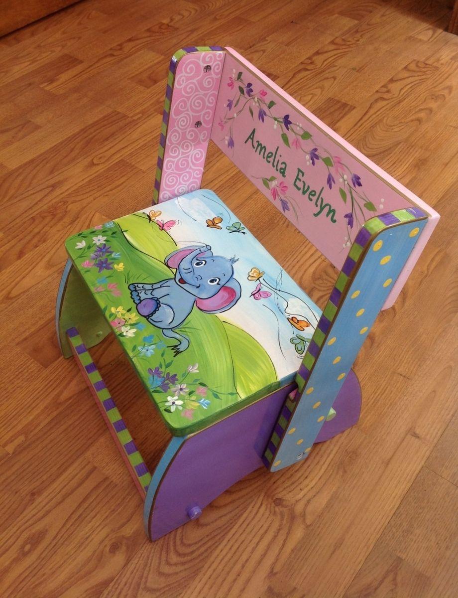 Astounding Buy A Hand Made Custom Personalized Hand Painted Step Stool Customarchery Wood Chair Design Ideas Customarcherynet