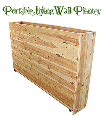 Custom Made Portable Privacy Living Wall Planter