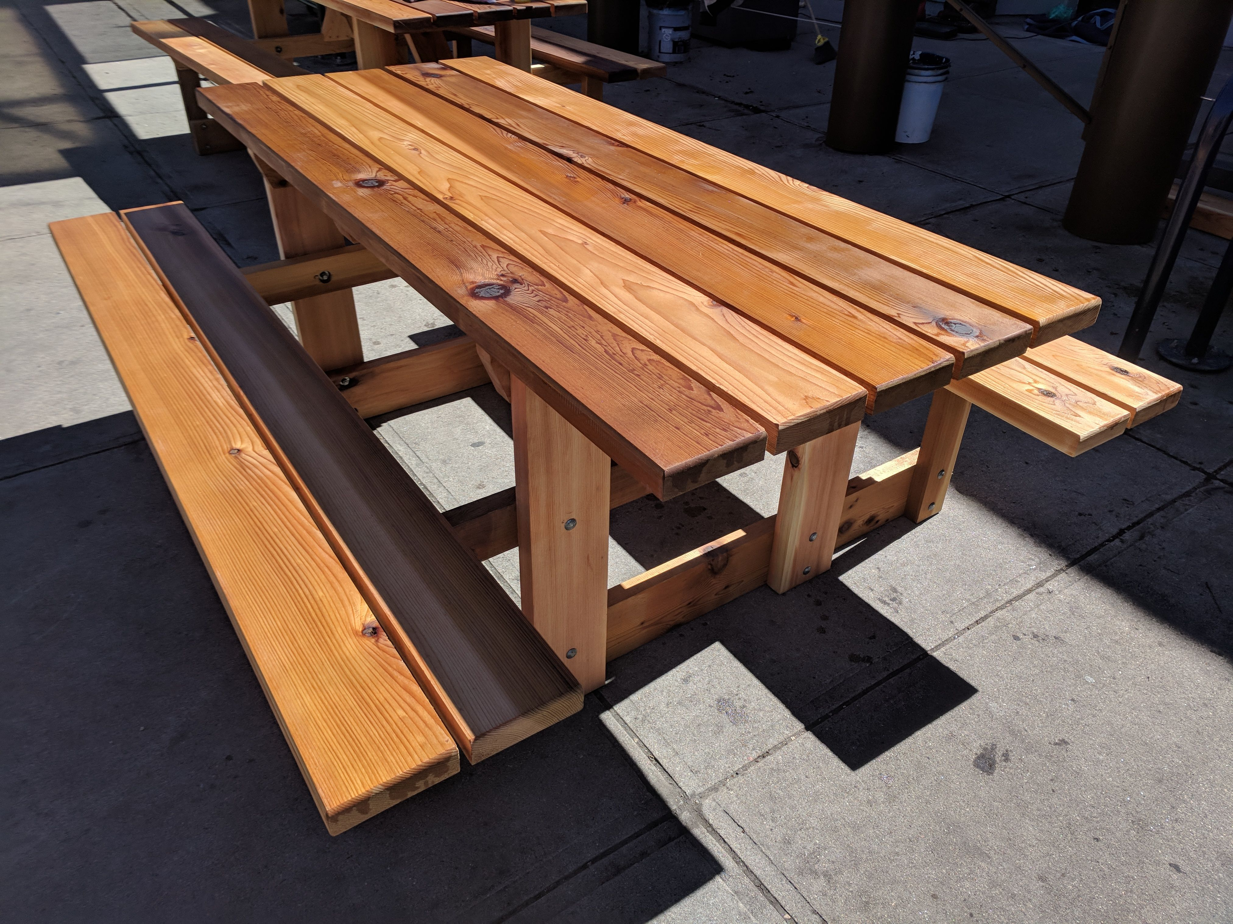 Hand Crafted Rustic Cedar Picnic Table