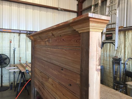 Custom Made Reclaimed Heart Pine Headboard
