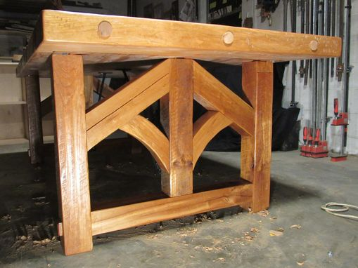 Custom Made Solid Cherry Reclaimed Beam Farm/ Barn Style Table