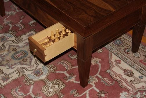 Custom Made Formal Coffee Table Converts To Game Table