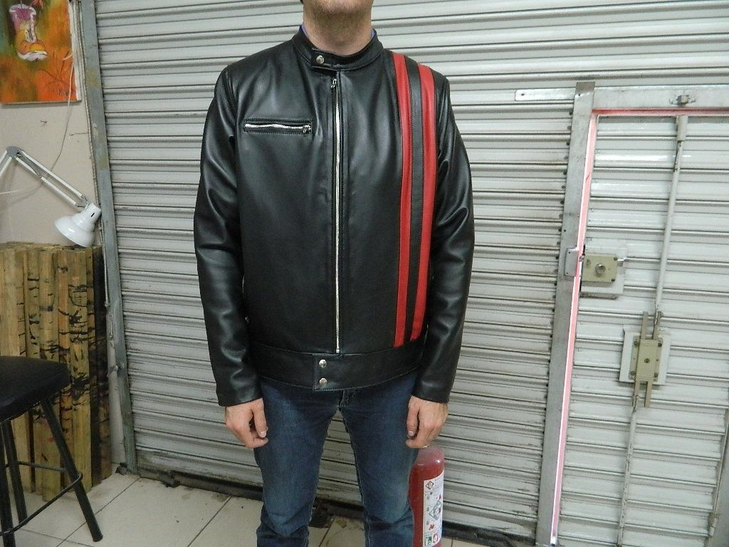 Custom Made Men Sizes Genuine Lamb Leather Cafe Racer Style Jacket To Order In 3