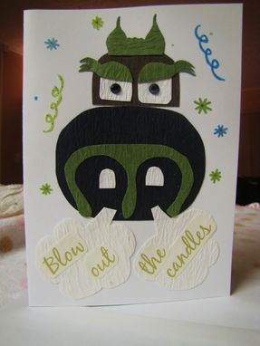 Custom Made Handmade 5x7 Ooak Happy Birthday Cards With Envelope