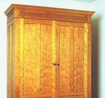 Custom Made Shaker Style Cabinet In Curly Cherry