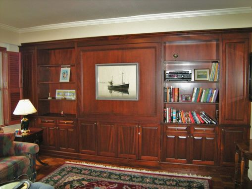 Custom Made Built-In Murphy Bed And Shelving