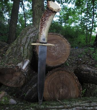 Custom Made Stag Handle Arkansas Toothpick