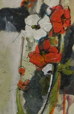 Custom Made Sister Poppy, Mixed Media, Painting, Floral