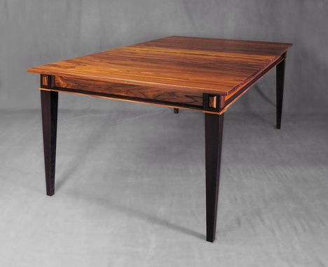Custom Made Center Leaf Dining Table In Rosewood