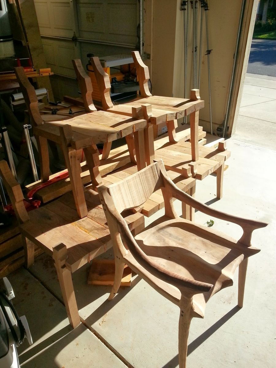 Custom Made Maloof Inspired Low Back Walnut Chair