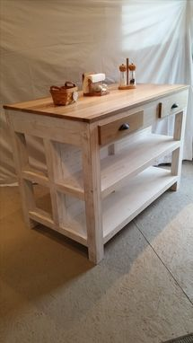 Custom Made Kitchen Island Distressed