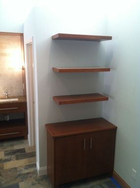 Custom Made Master Bathroom Vanity And Shelving