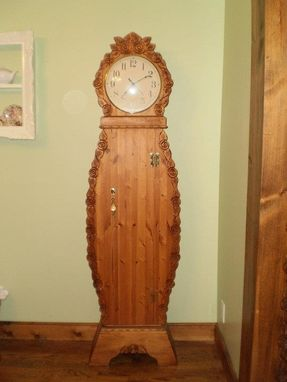 Custom Made Grandmother Clock, Grandfather Clock, Storage Clock