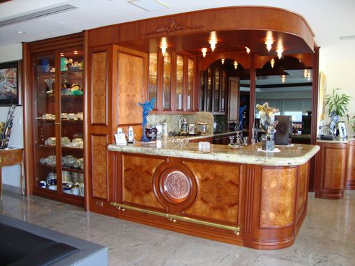 Custom Made Art Deco Mahogany Bar