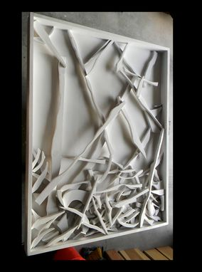 Custom Made White Wood Abstract