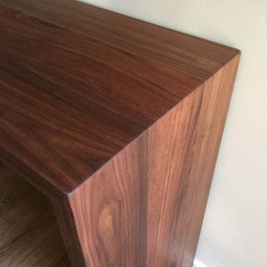 Custom Made Black Walnut Entryway Table/Coffee/End Table Modern, Grain Matched