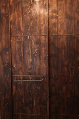 Custom Made Distressed Wood And Metal Door