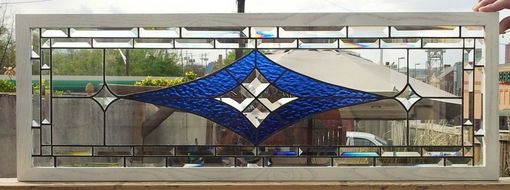 Custom Made Stained Glass Window/ Geometric And Elegant Design (W-26)