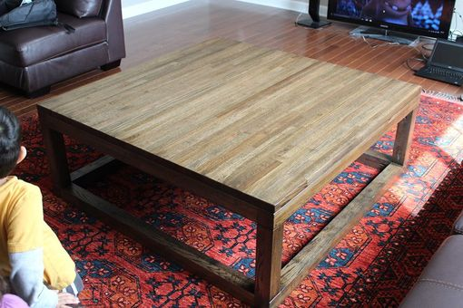 Custom Made Salvaged Oak Coffee Table