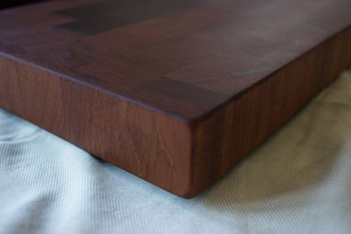 Custom Made Mahogany End Grain Butcher's Chopping Block - Gifts For Chefs - Gifts For Moms, Him Or Her
