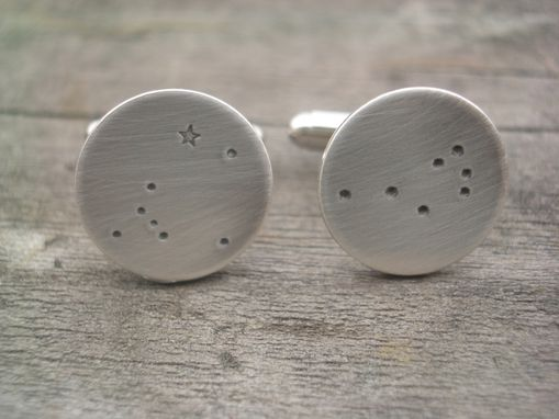 Custom Made Constellation Cufflinks In Sterling Silver
