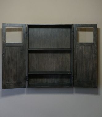 Custom Made Reclaimed Floating Wall Cabinet