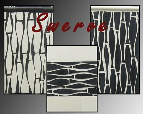 "Custom Made ""Swerve"" Mid-Century Cool Tile"