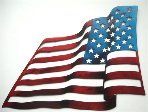 Custom Made United States Flag Wall Sculpture