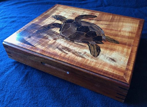 Custom Made Honu Turtle Jewelry Box