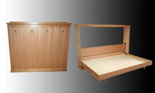 Custom Made Oak Wall Bed