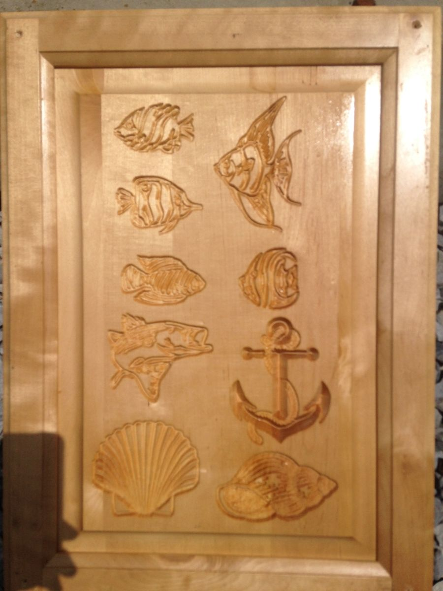 Hand Crafted Custom Carved Kitchen Cabinets By Tiki Art Studios