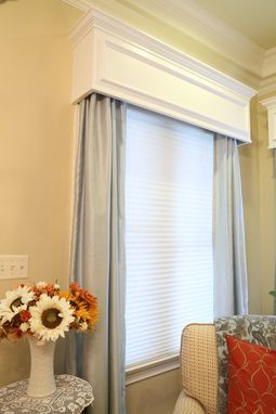 Custom Made White Window Cornices With Crown Molding