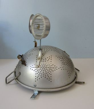 Custom Made Lamp - Reboot Robot Made From A Colander