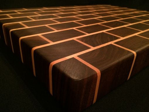 Custom Made American Cherry & Black Walnut End Grain Cutting Board