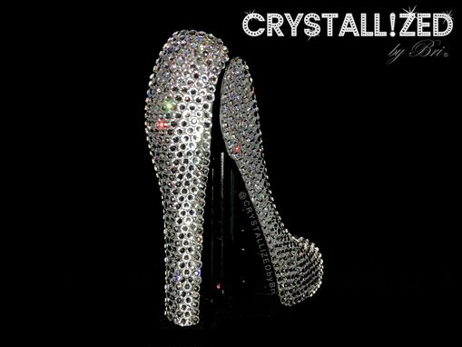 Custom Made High Heel Stapler Crystallized Office Desk Accessories Bling Swarovski Crystals Bedazzled