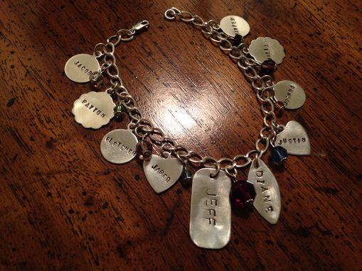 Custom Made Personalized Charm Bracelet